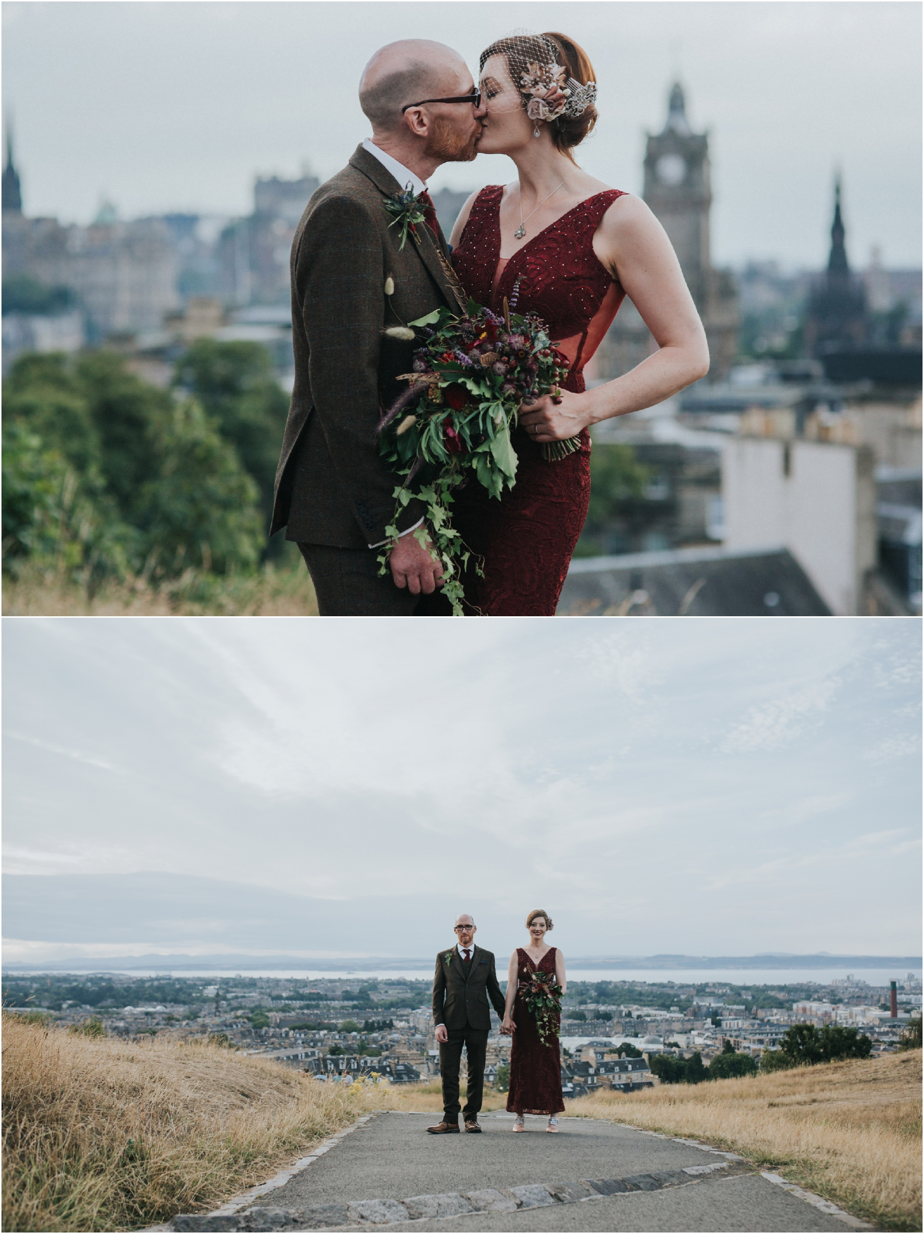 calton hill edinburgh elopement photographer