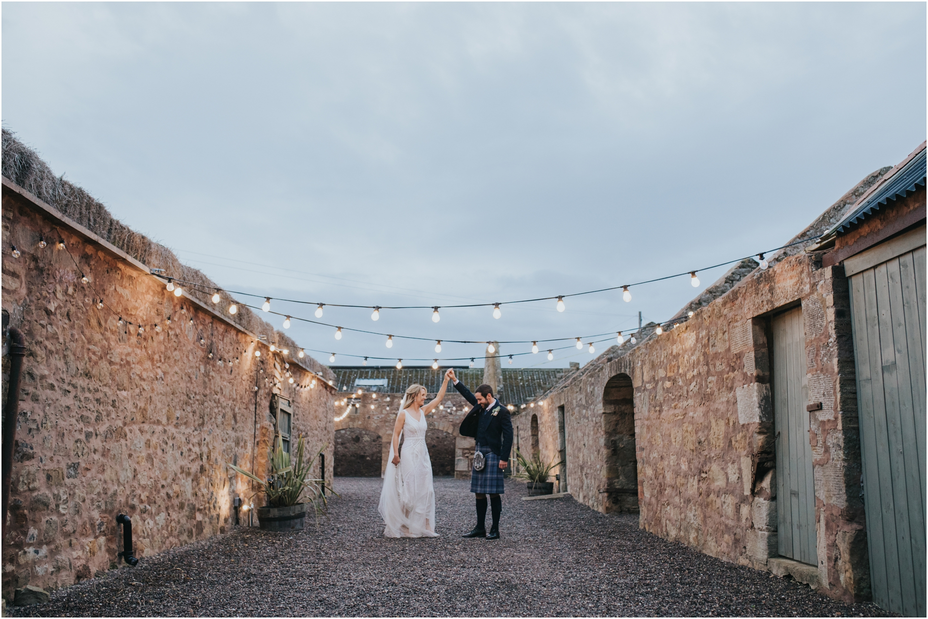 cow shed crail wedding photos scotland barn wedding