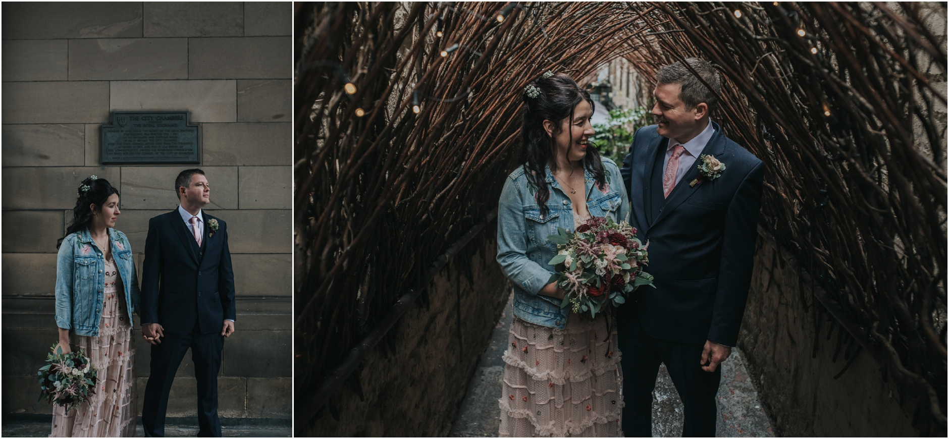 rainy edinburgh scotland alternative elopement wedding photographer