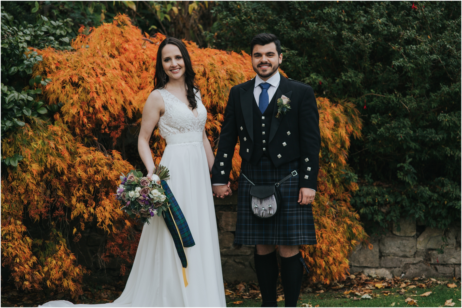 autummn prestonfield house edinburgh scotland alternative elopement wedding photographer