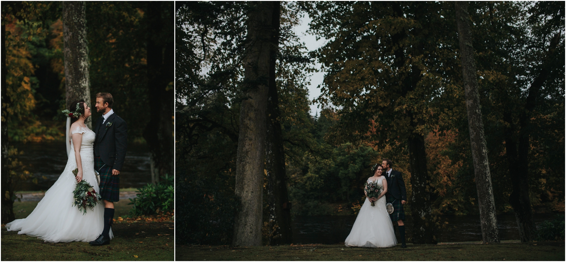 dunkeld house rainy autumn scotland highlands alternative elopement wedding photographer