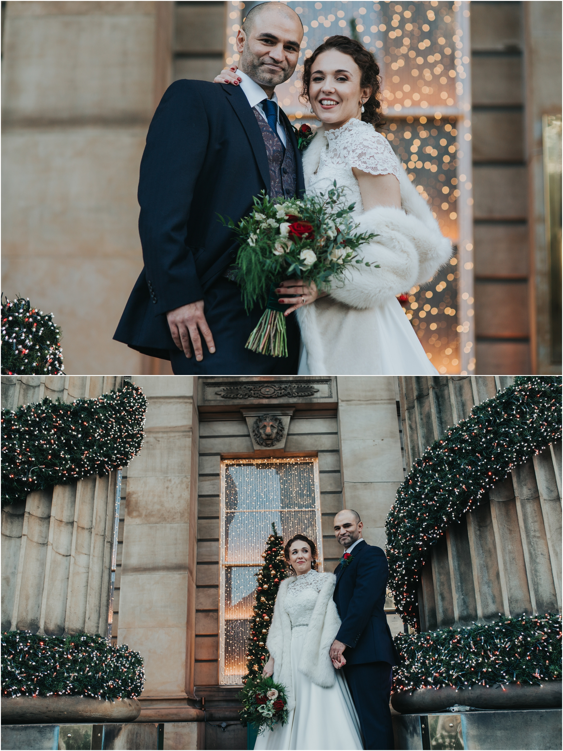 edinburgh christmas winter wedding principal hotel the dome