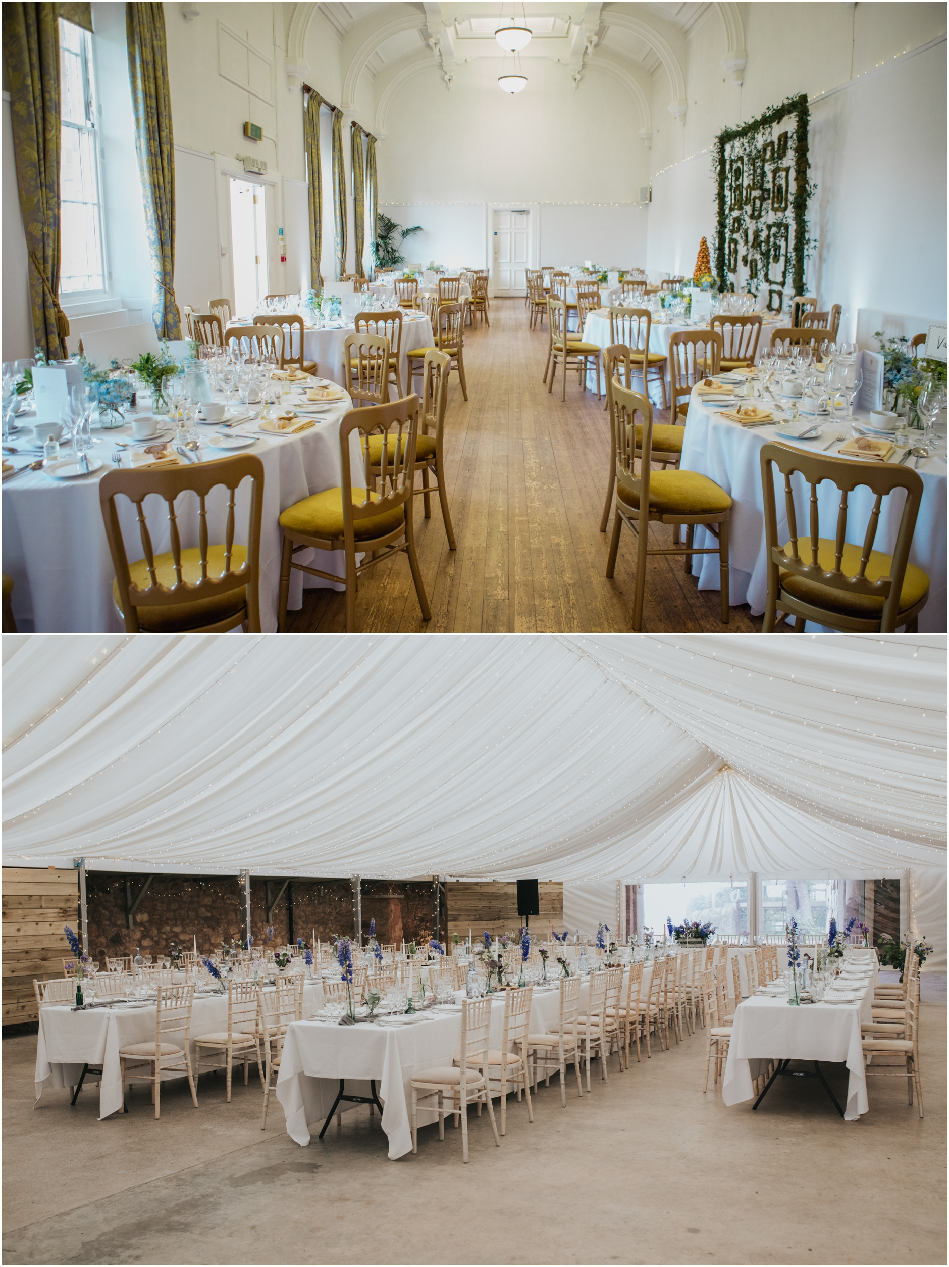 royal botanical gardens edinburgh cow shed crail table set up venue details