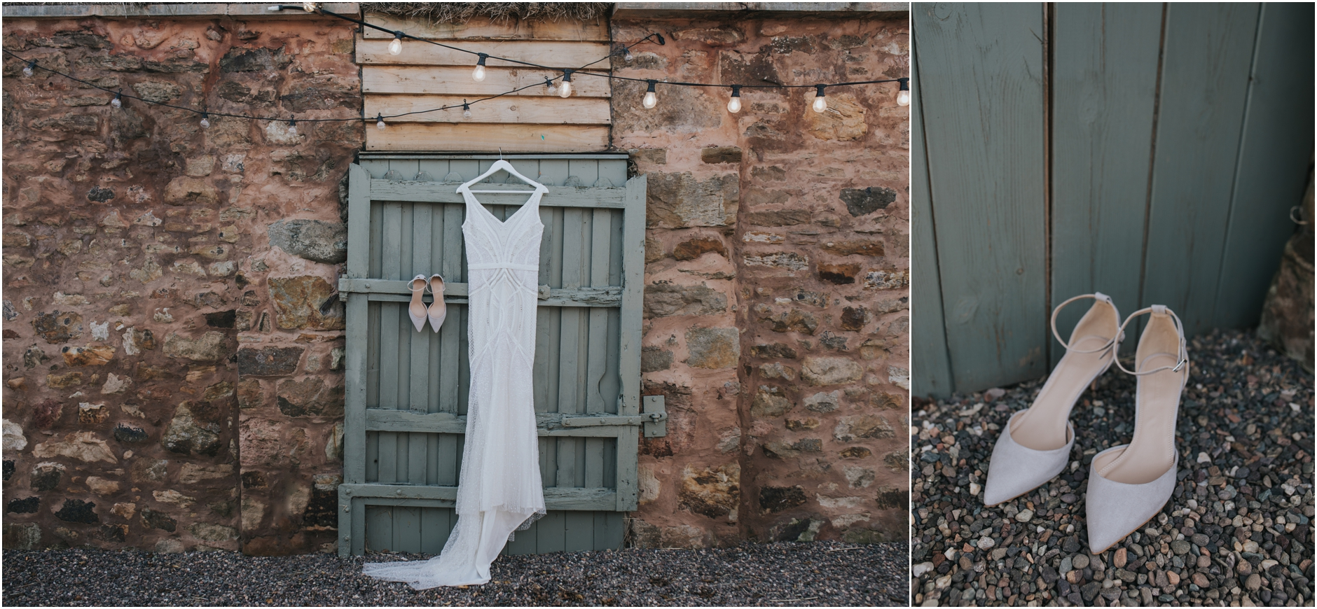 cow shed wedding crail venue details eliza jane howell wedding dress