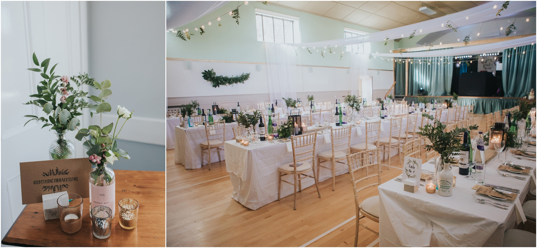 monikie village hall rustic wedding