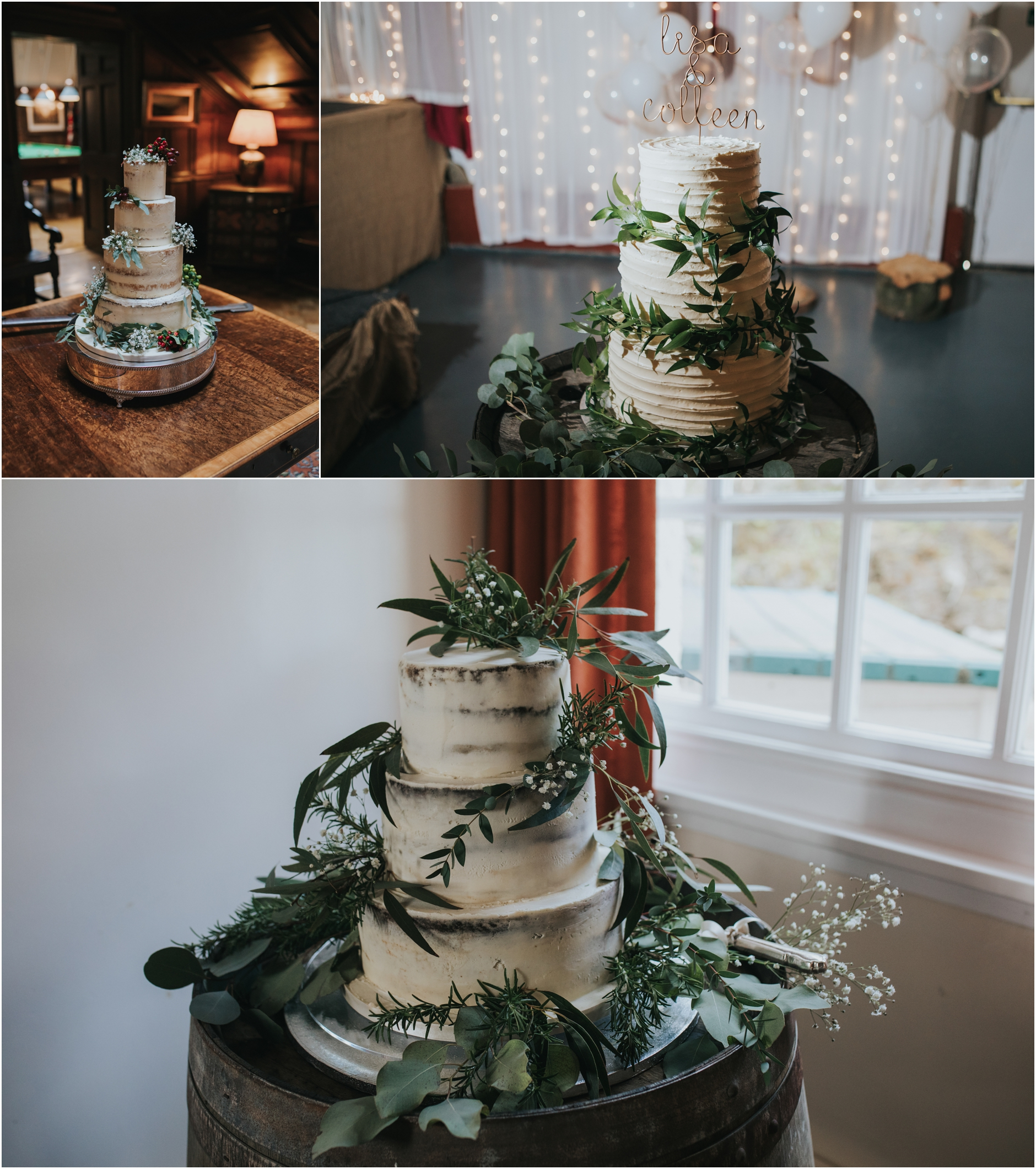 semi naked wedding cakes scotland