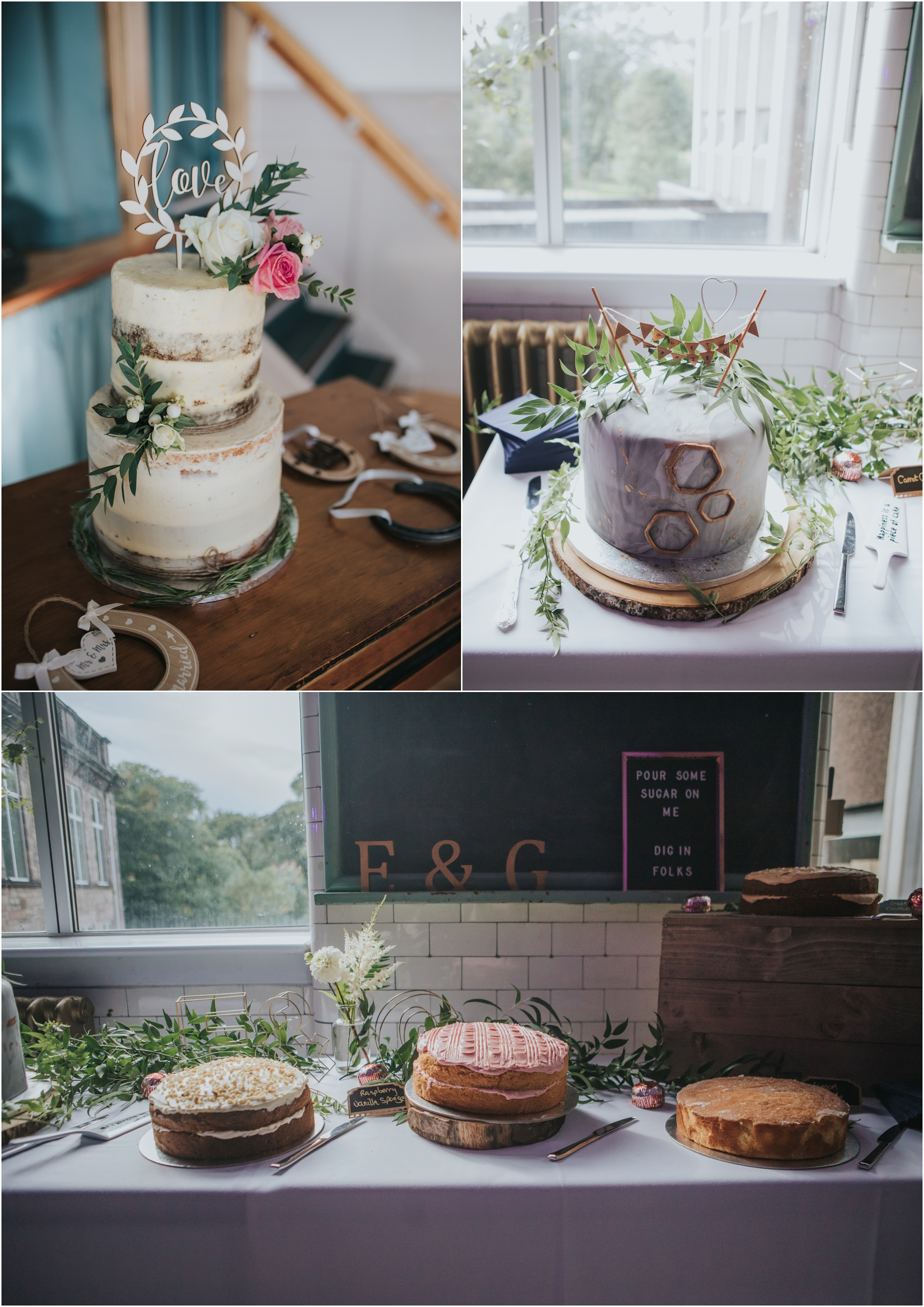 semi naked wedding cakes scotland and dessert tables