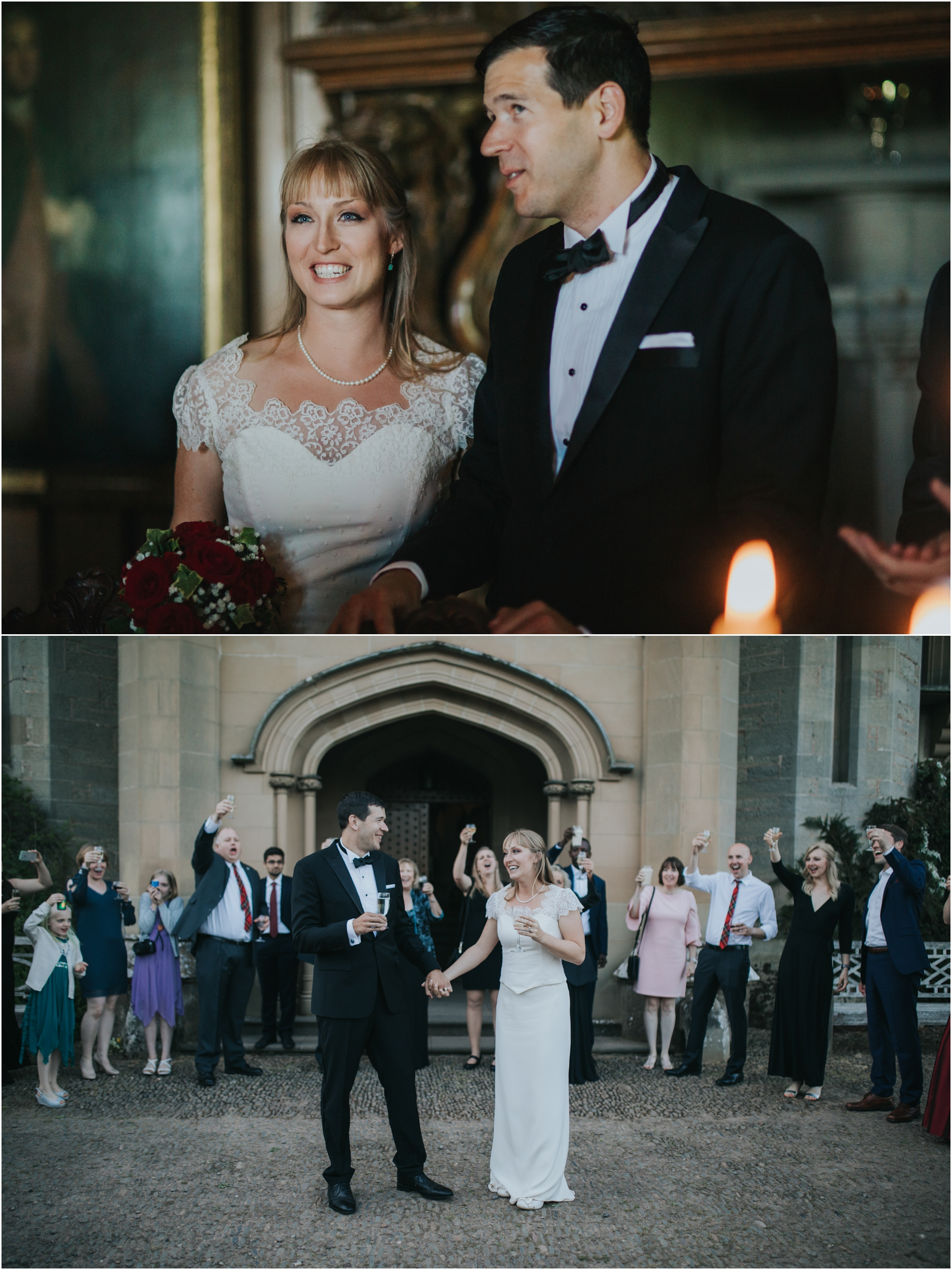 wedding toasts at duns castle wedding