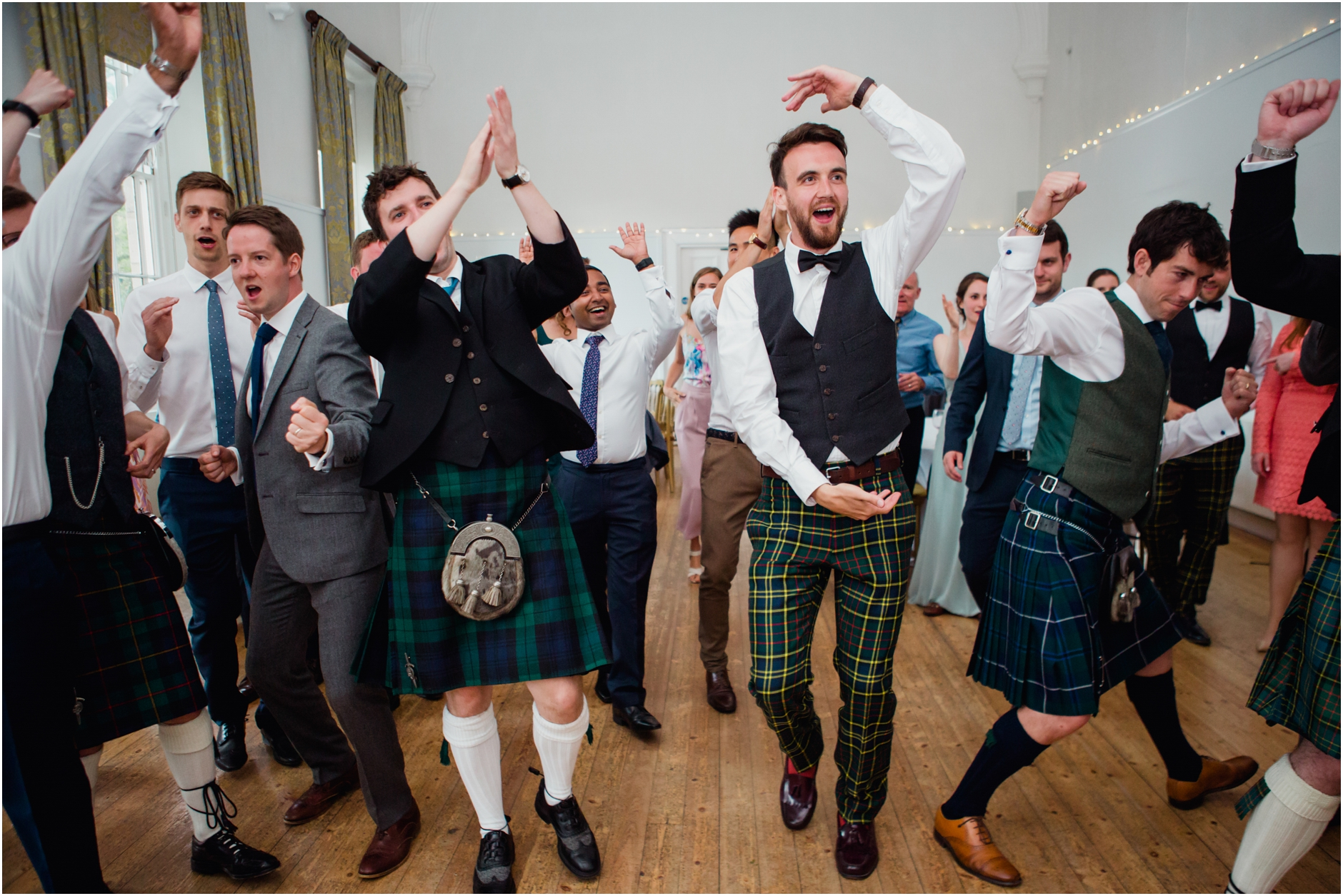 alternative scottish wedding photographer ceilidh dancing