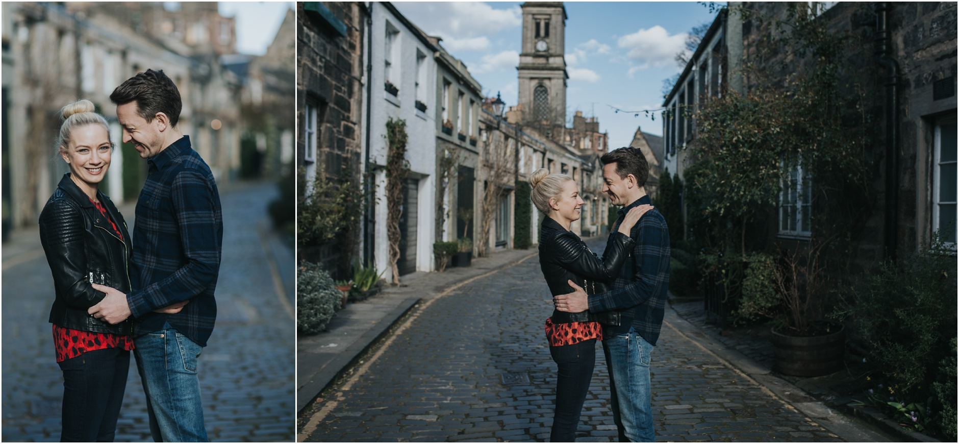 stockbridge edinburgh pre wedding engagement photoshoot