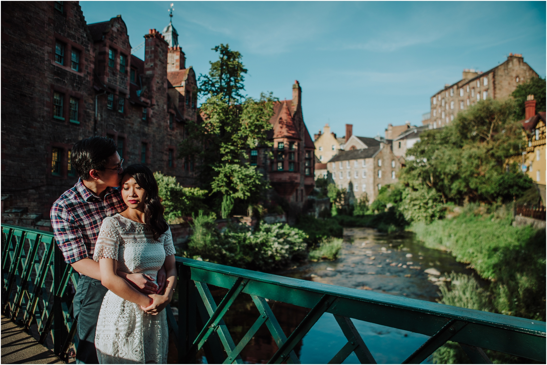 dean village edinburgh pre wedding engagement photoshoot