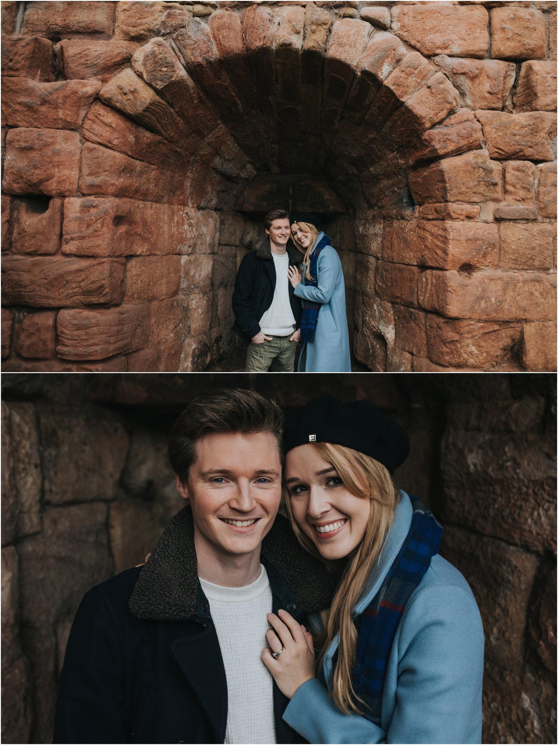 roslin glen edinburgh pre wedding engagement photoshoot