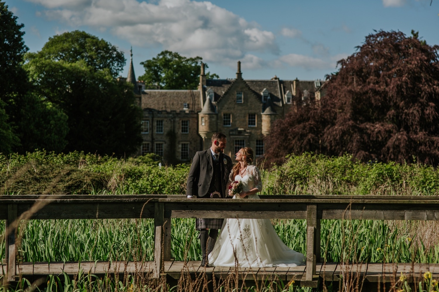 french chateau wedding scotland photos