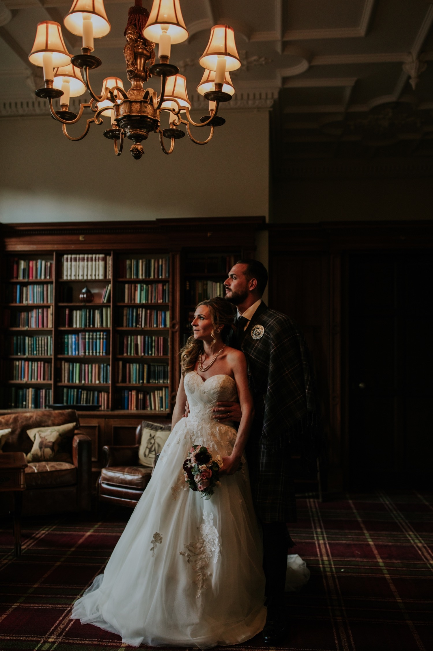 french wedding at carberry tower edinburgh