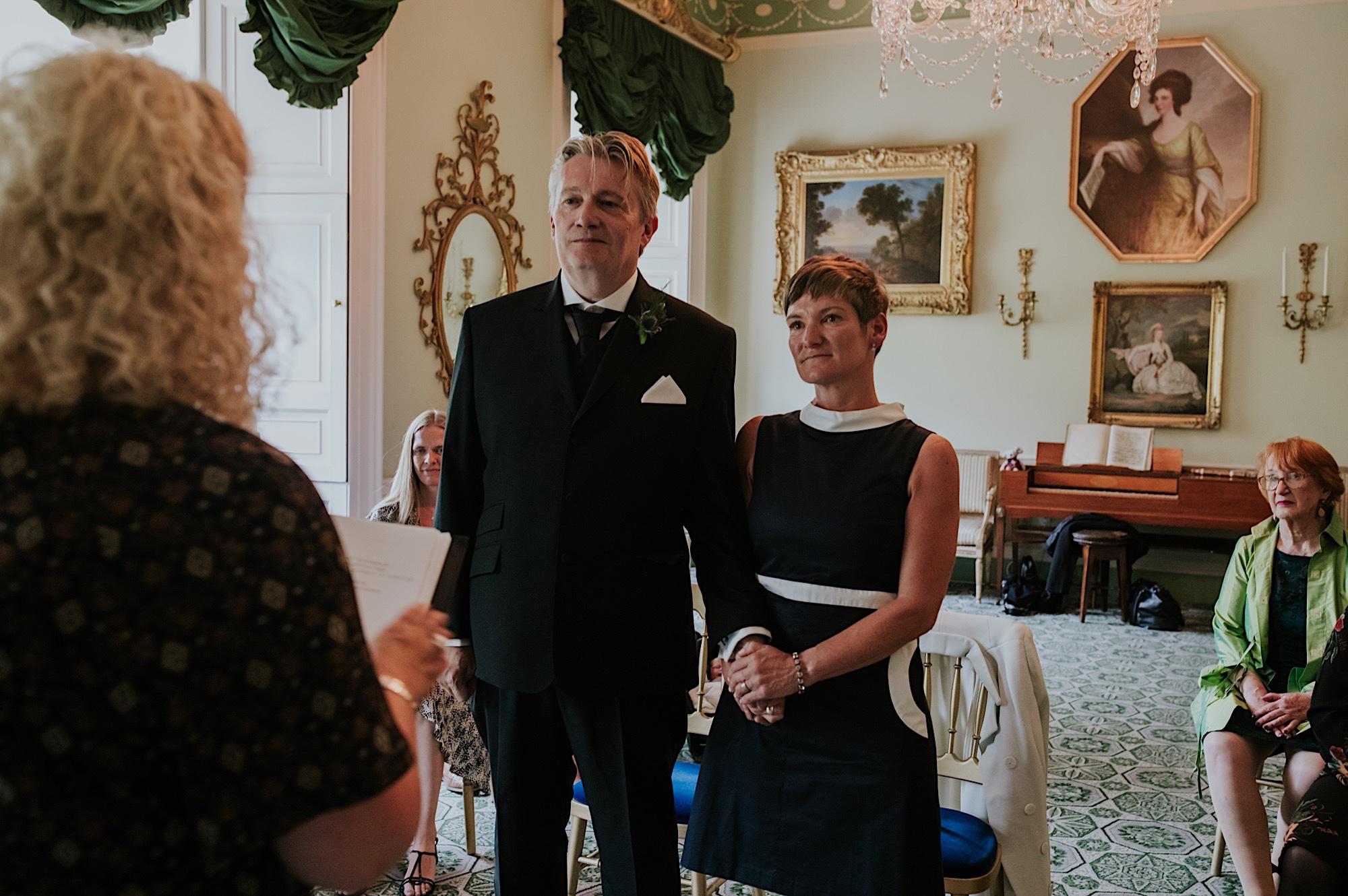 intimate wedding at georgian house edinburgh