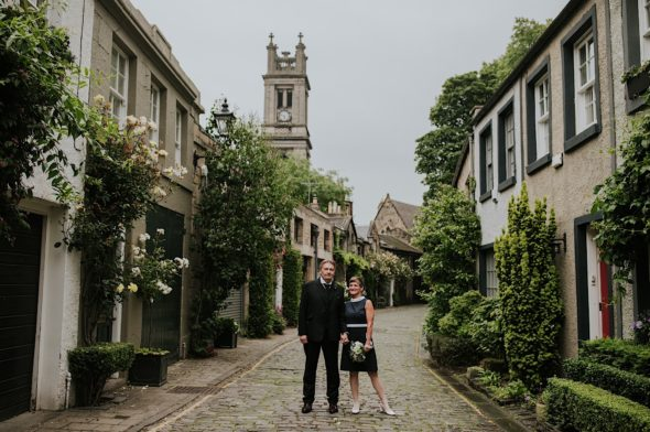 creative modern edinburgh wedding photography