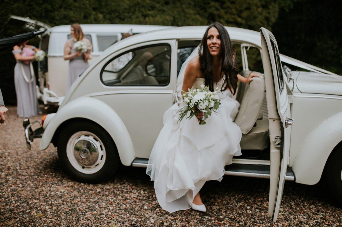 rainy kirknewton stables wedding photographer