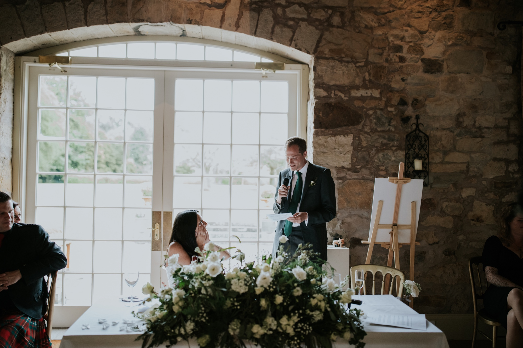 rainy kirknewton stables wedding photographer