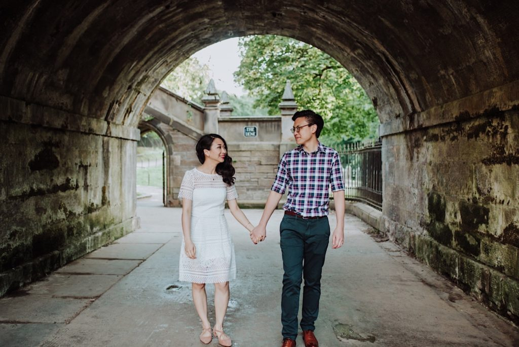 edinburgh engagement photo shoot