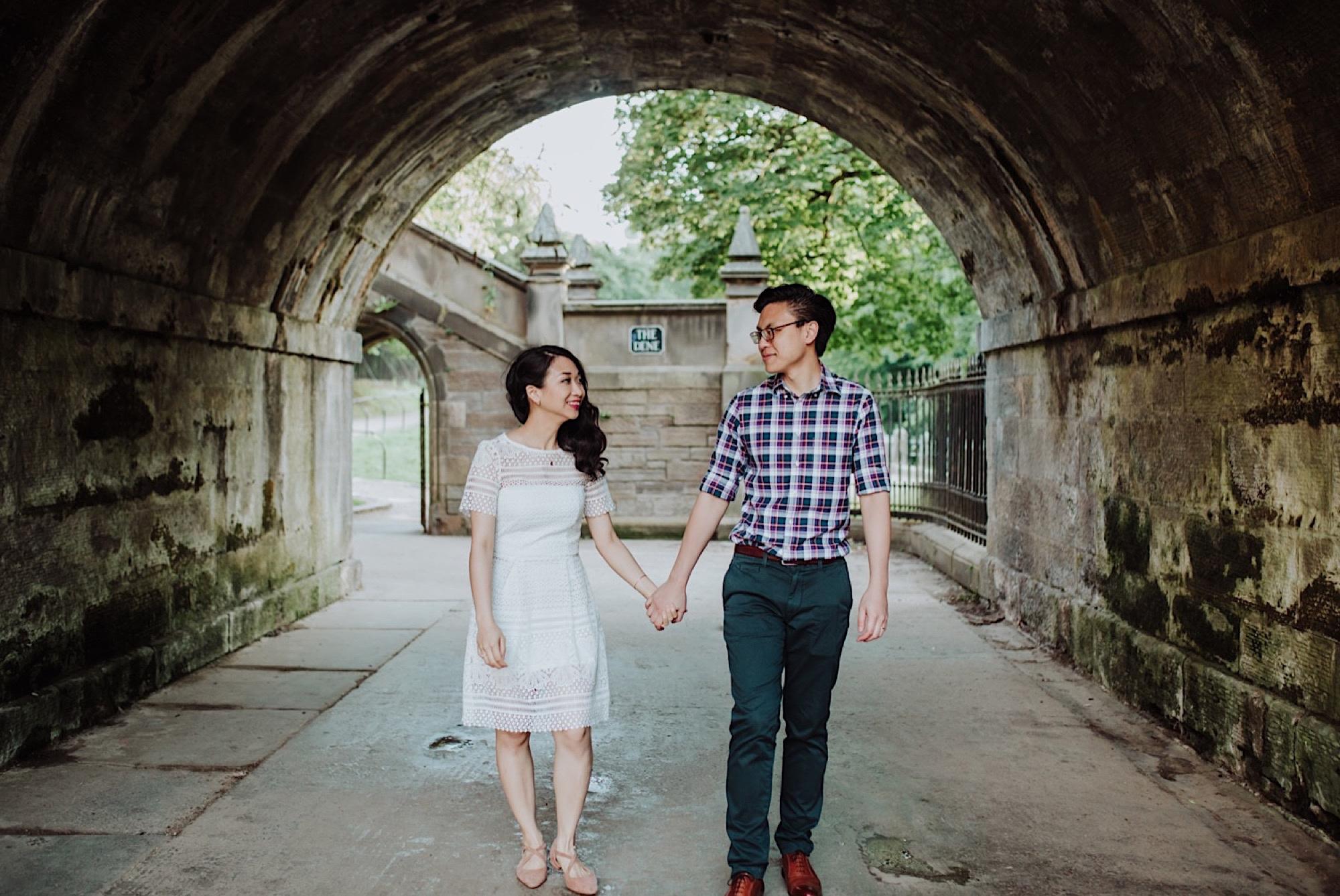 edinburgh engagement photo shoot
