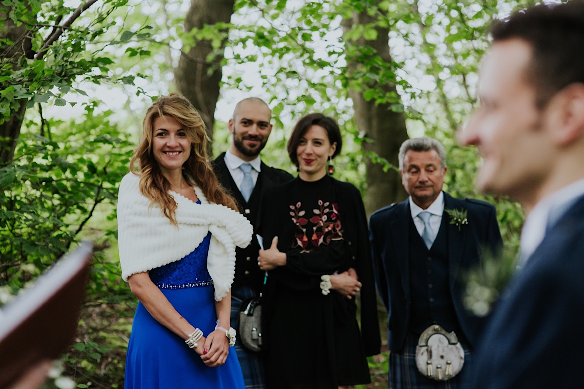 romantic woodland wedding ceremony