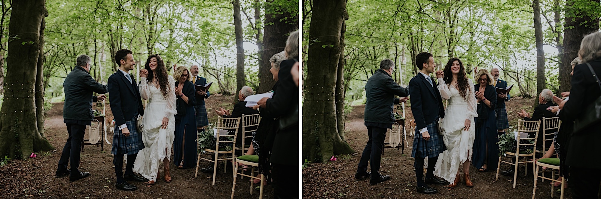 pegan broom jump wedding ceremony, couple jumping over a broom