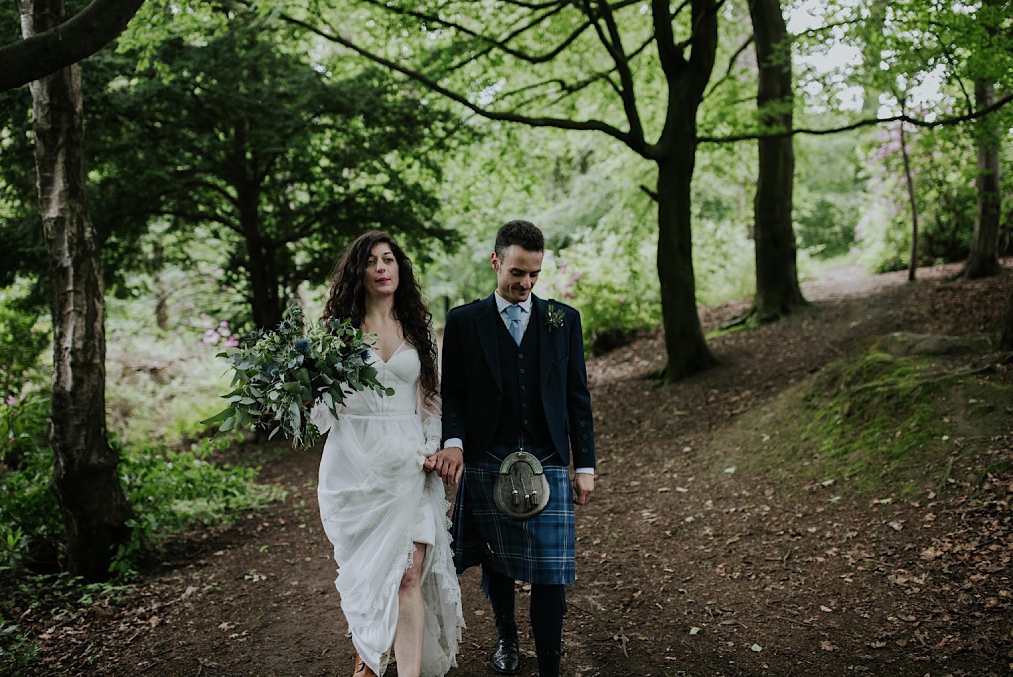 scottish woodland elopement