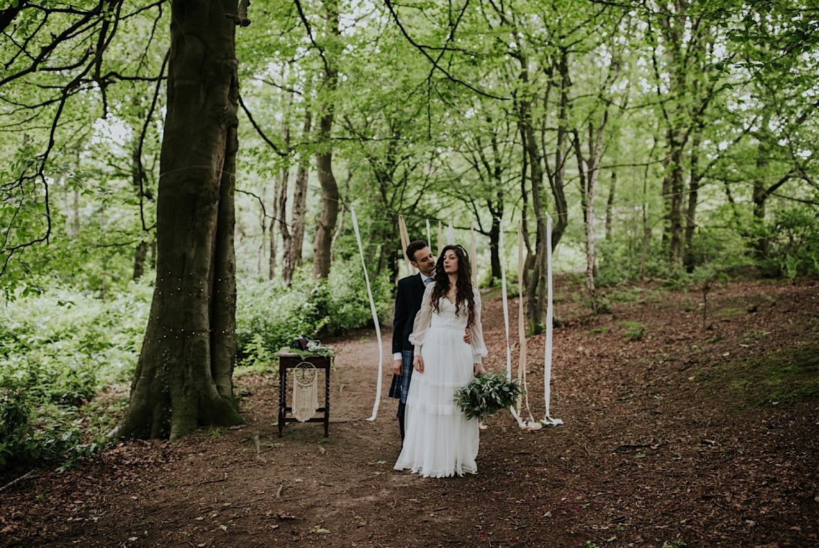 scottish woodland elopement