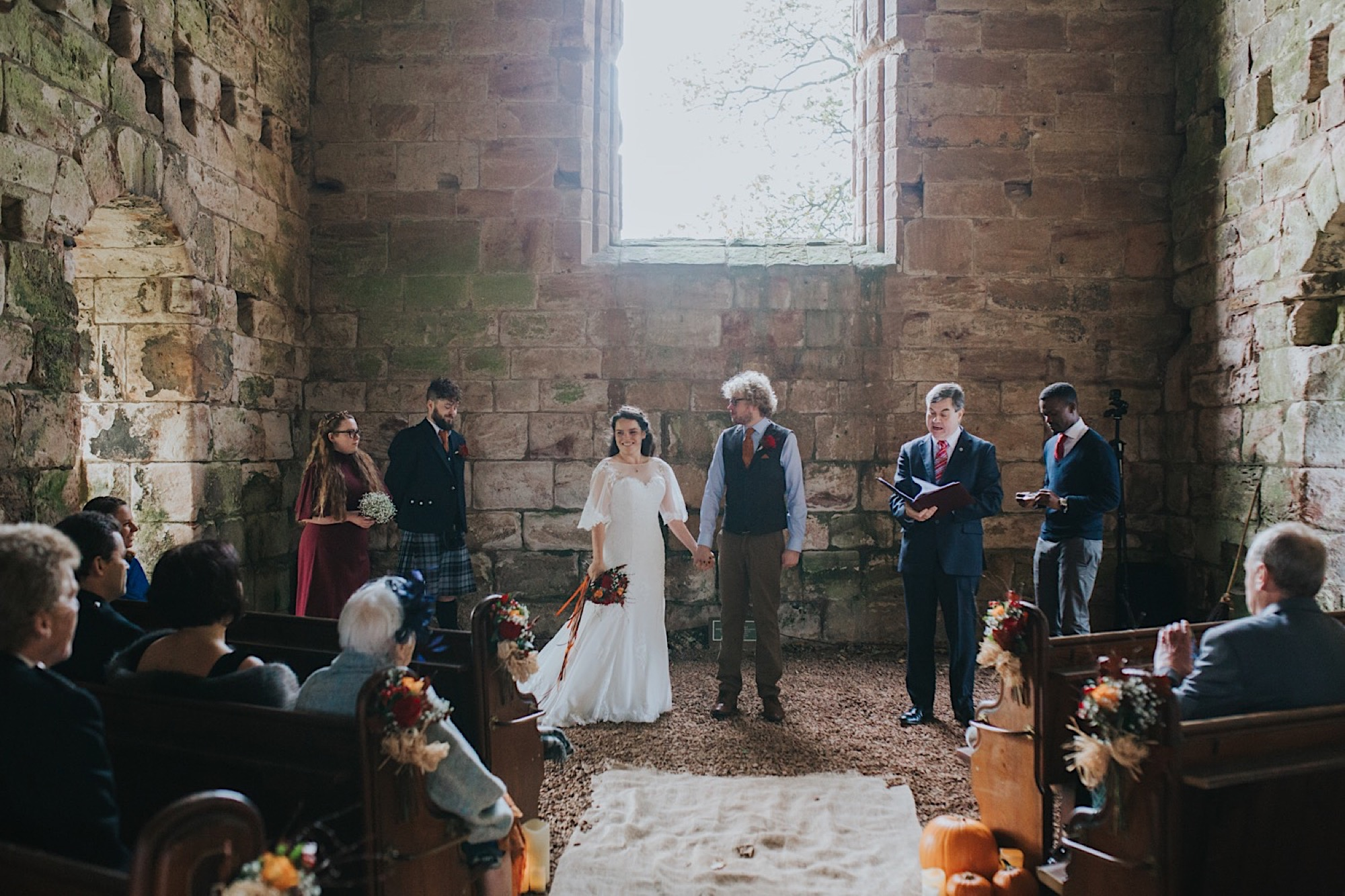 humanist autumn wedding dunglass estate