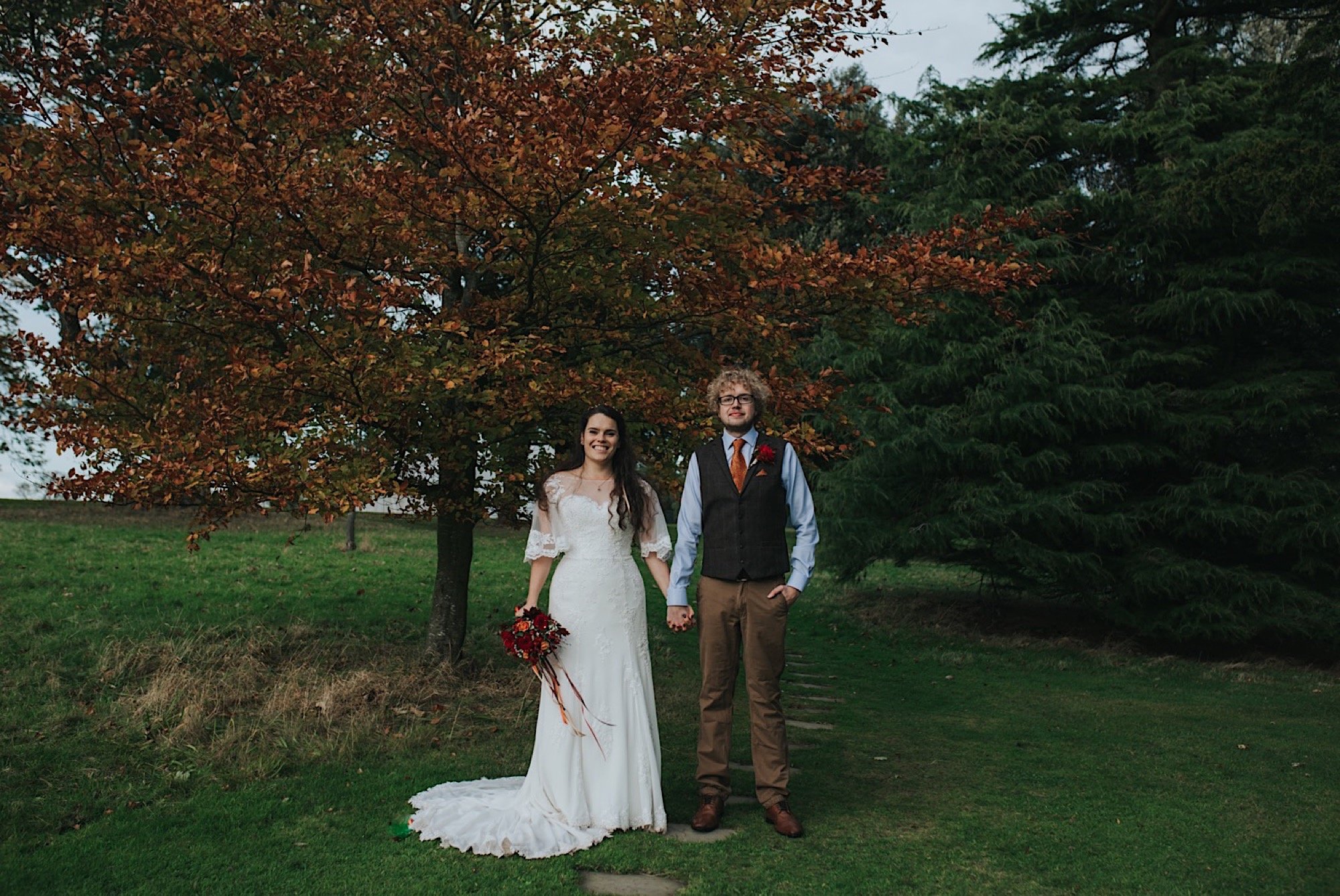 autumn wedding at dunglass estate