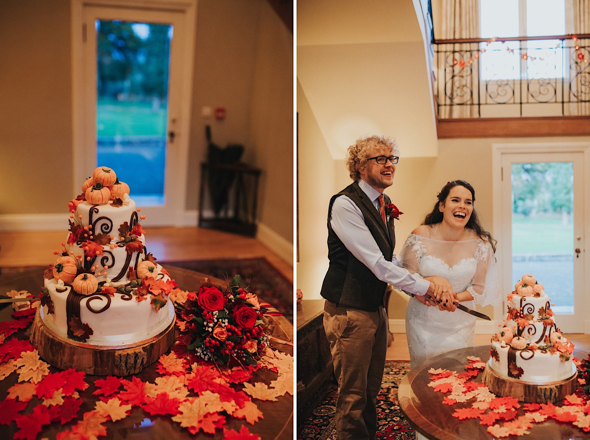 wedding at on halloween at dunglass estate