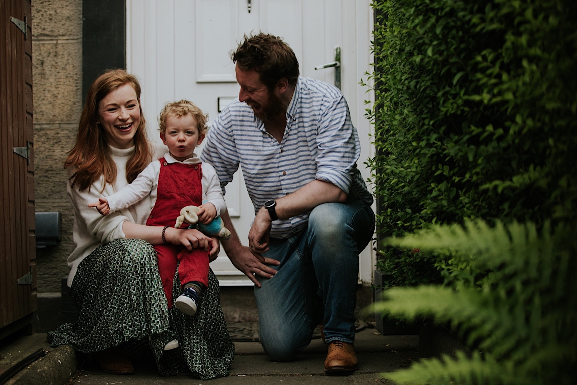 edinburgh lockdown doorstep family sessions photos