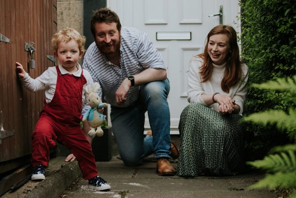 edinburgh lockdown doorstep family sessions photos