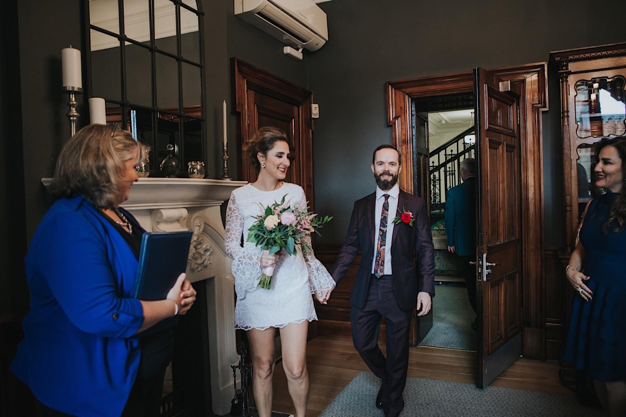 stylish glasgow elopement