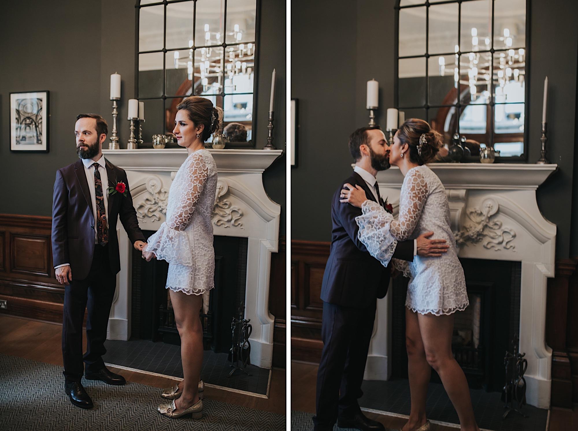 stylish vintage 1960s elopement