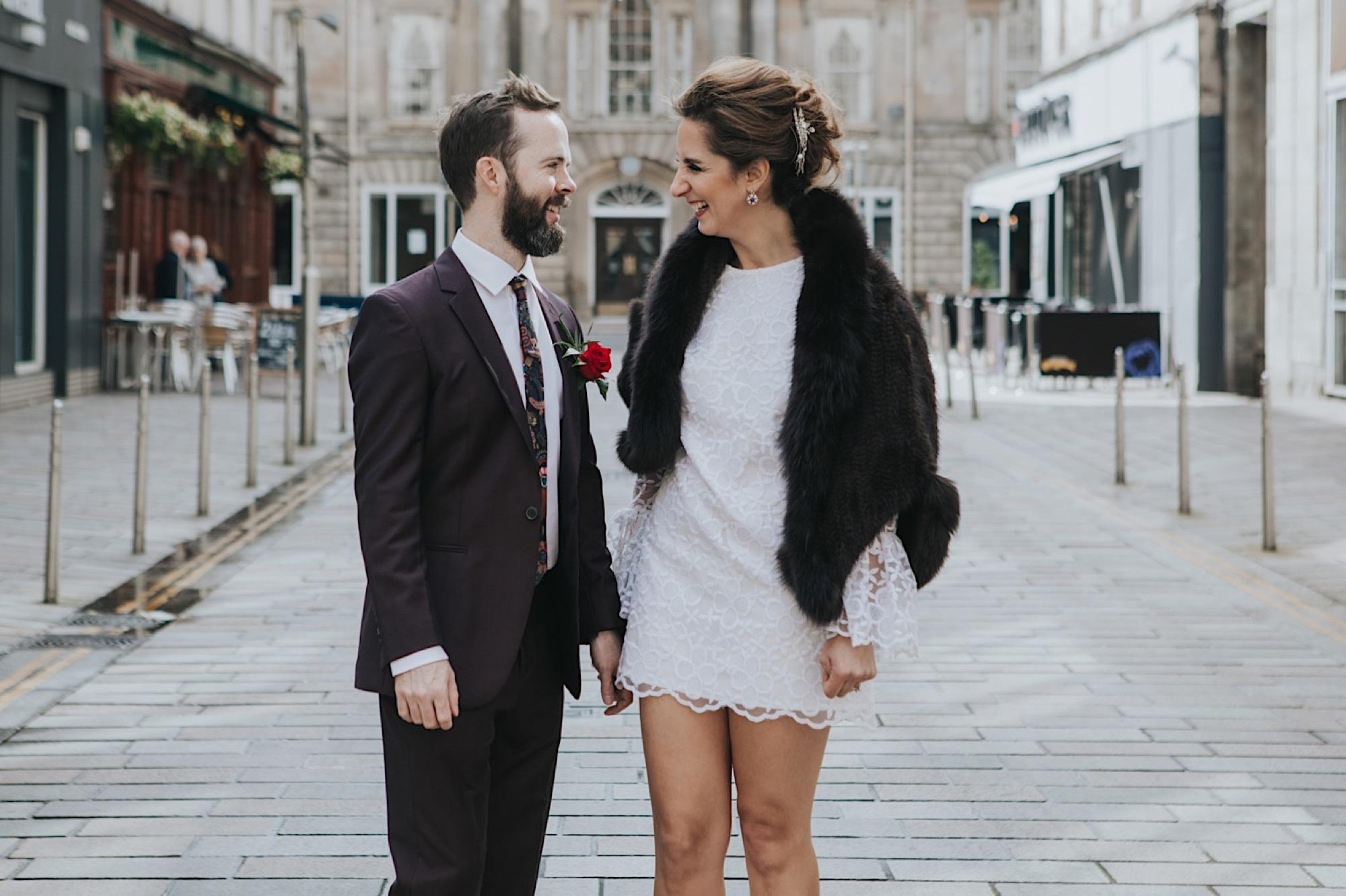 glasgow stylish merchant city wedding