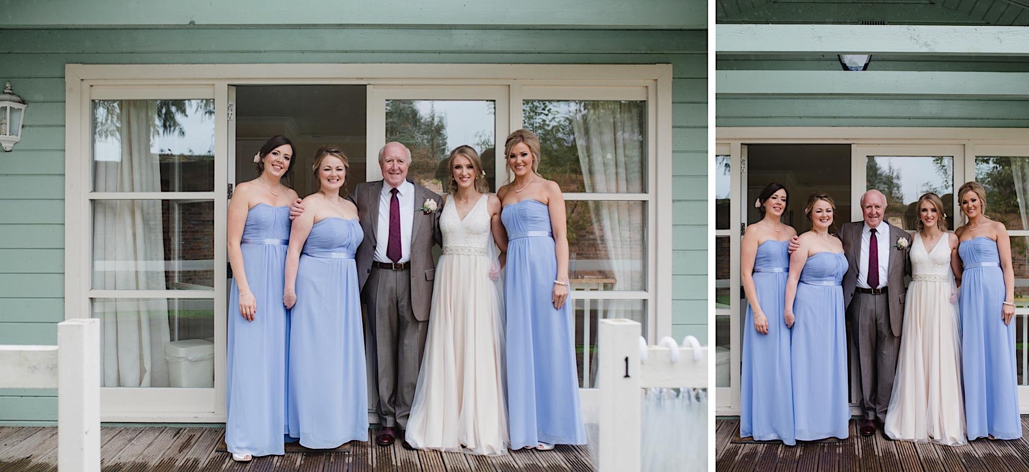 lilac bridesmaid dresses autumn wedding loch lomand