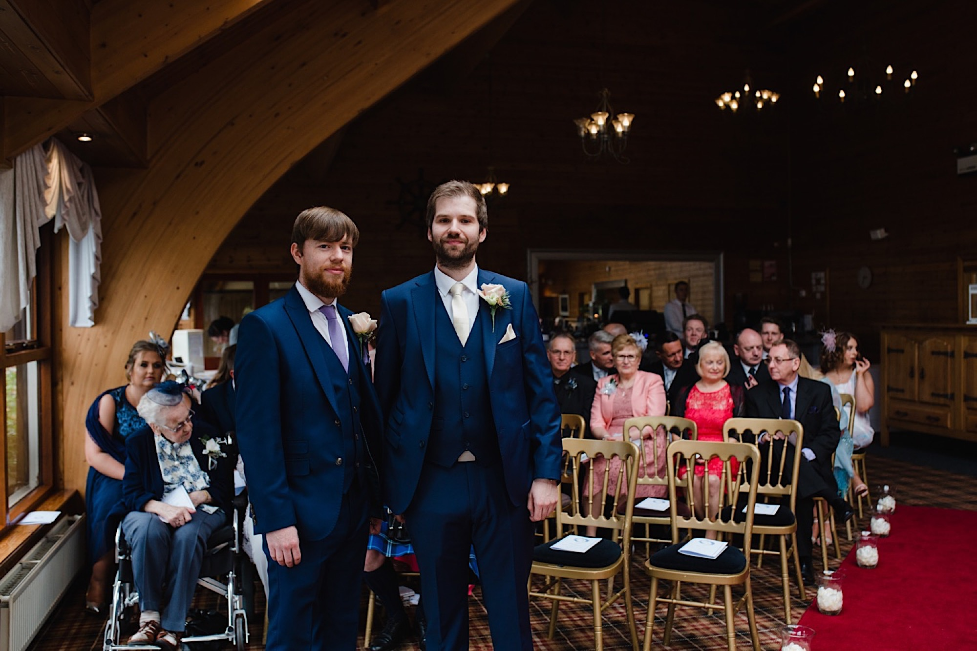 groom and best man awaiting the bride