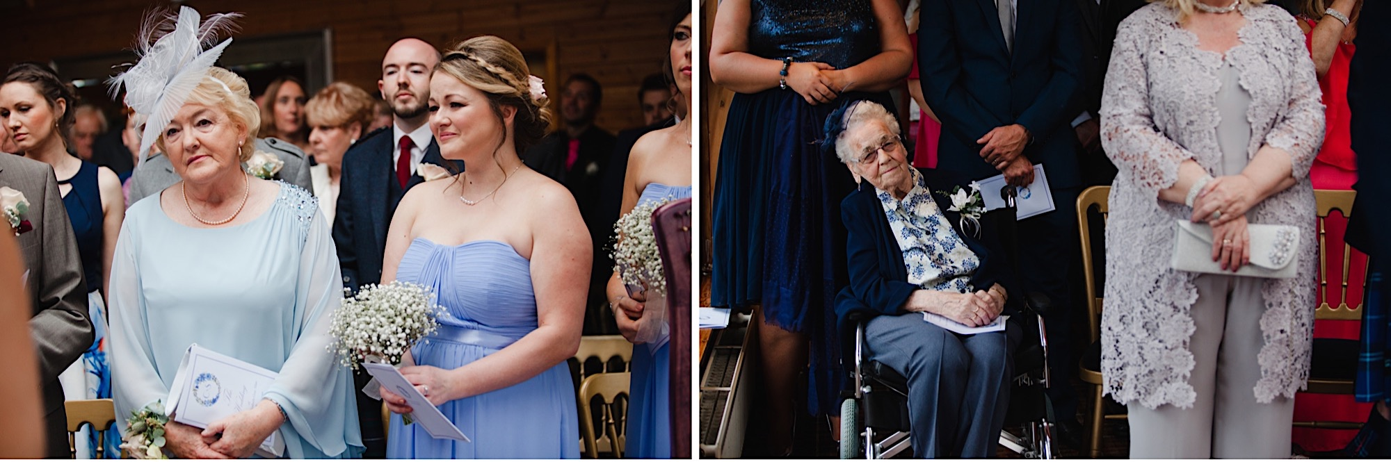 wedding guests reactions during ceremony