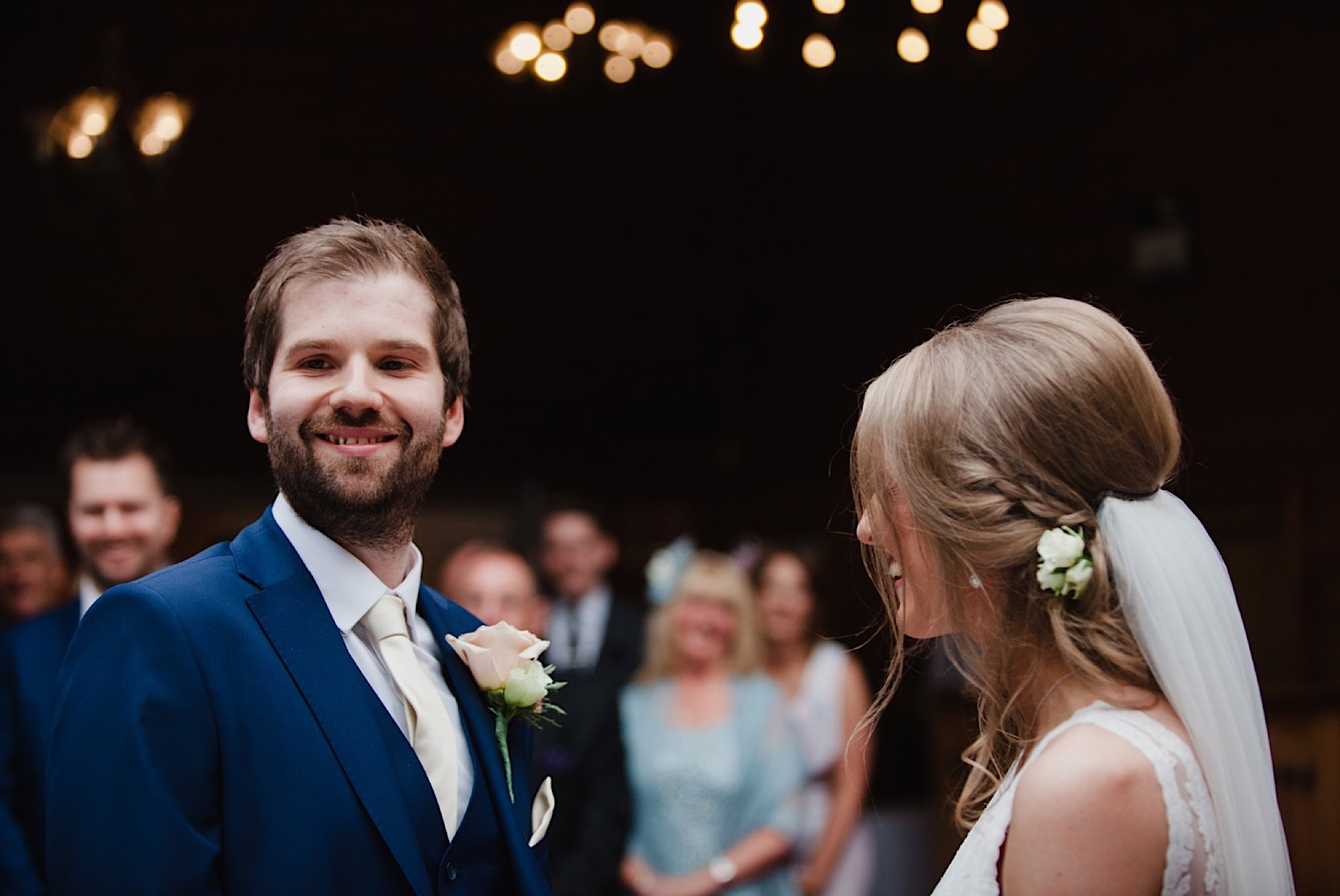 bride and groom saying their vows