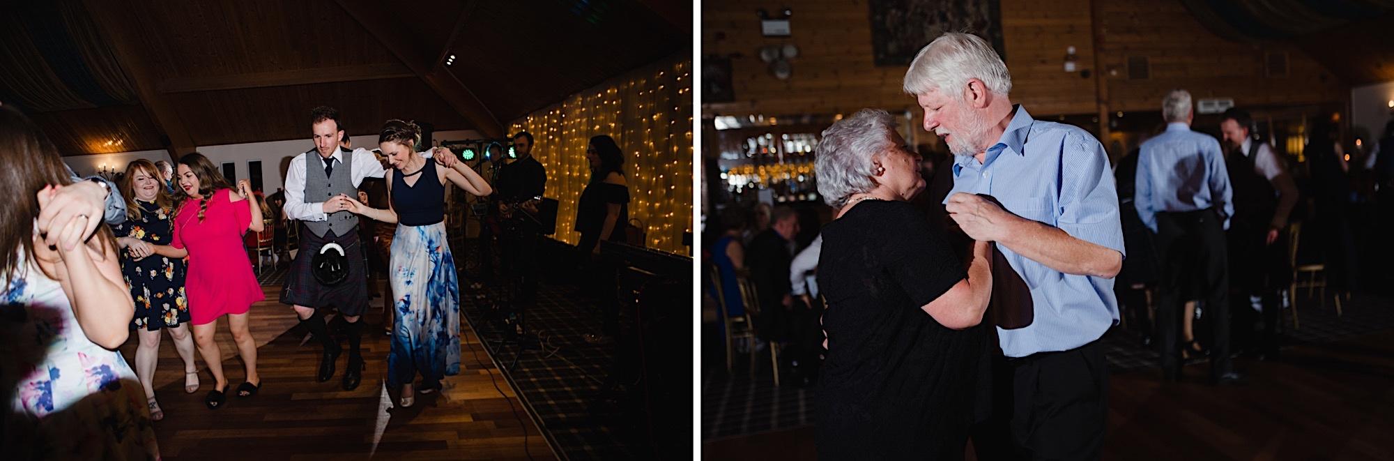 scottish ceilidh dancing at the cruin loch lomand wedding