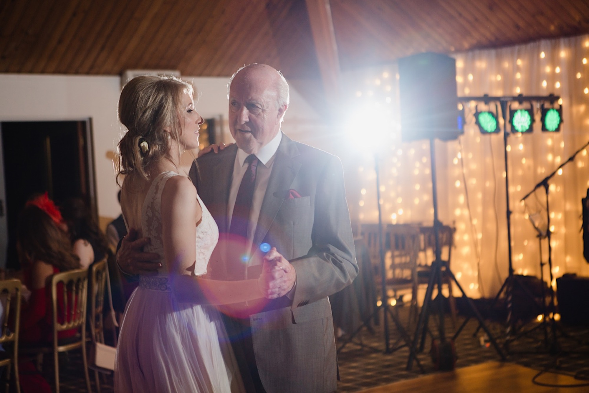 bride dancing with her dad at the cruin loch lomand
