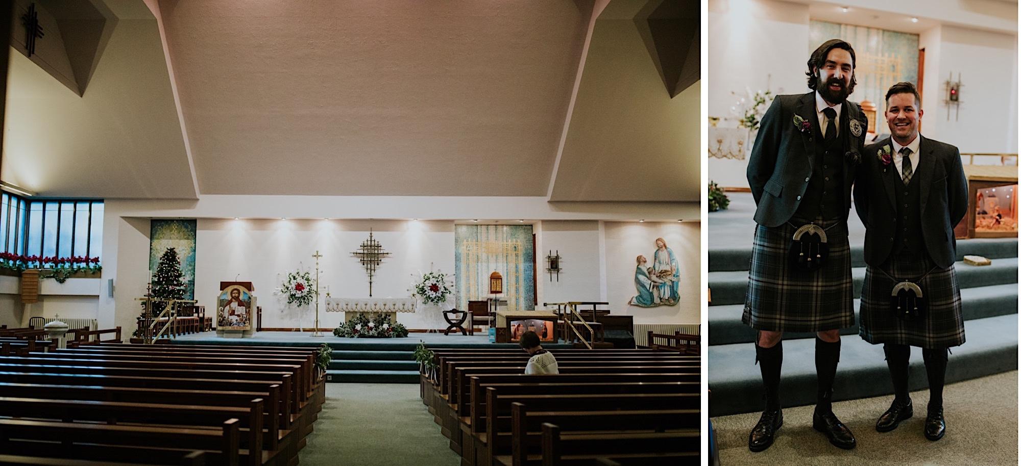 St Andrew catholic church glasgow wedding ceremony