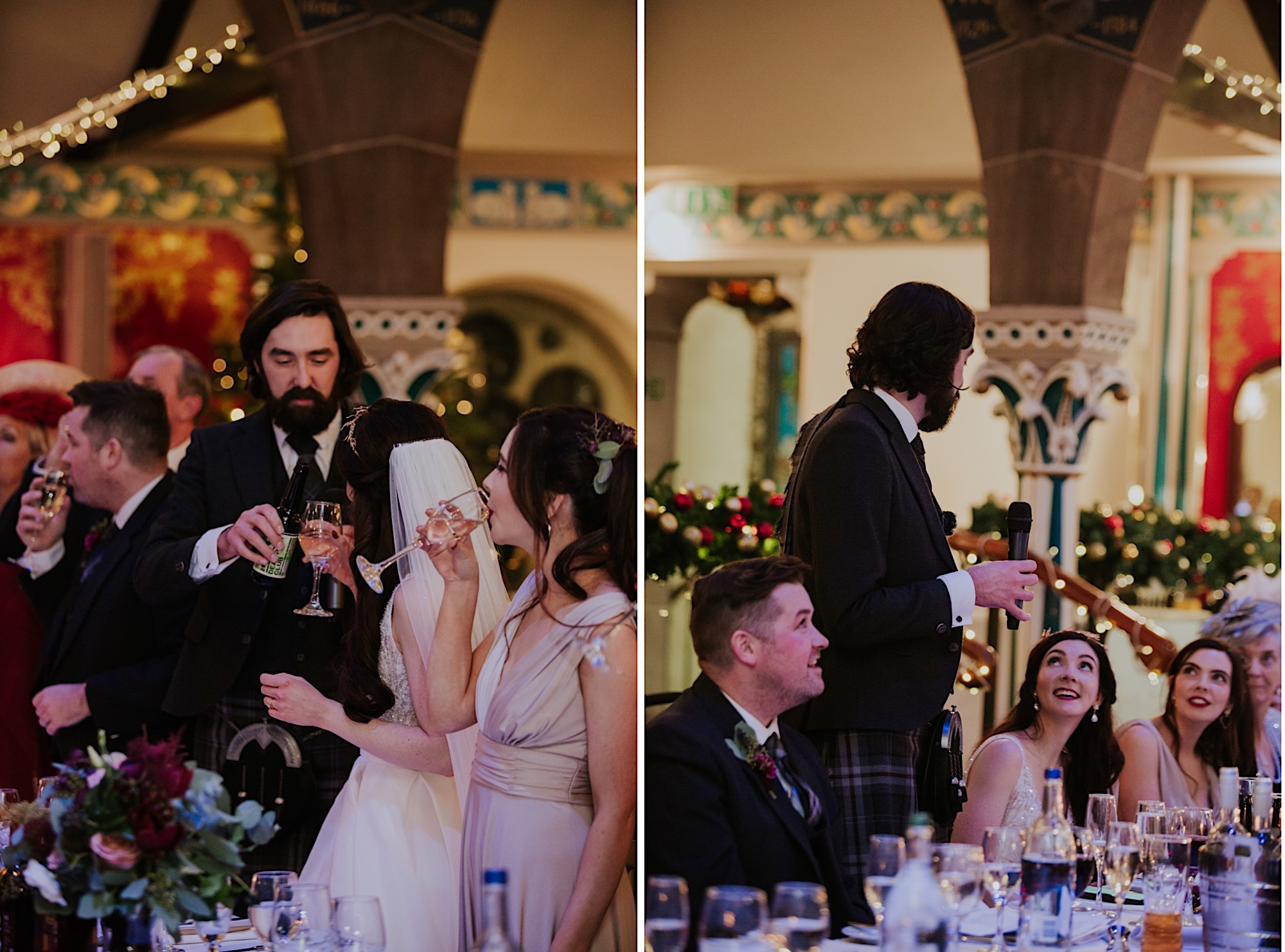 family speeches at oran mor wedding