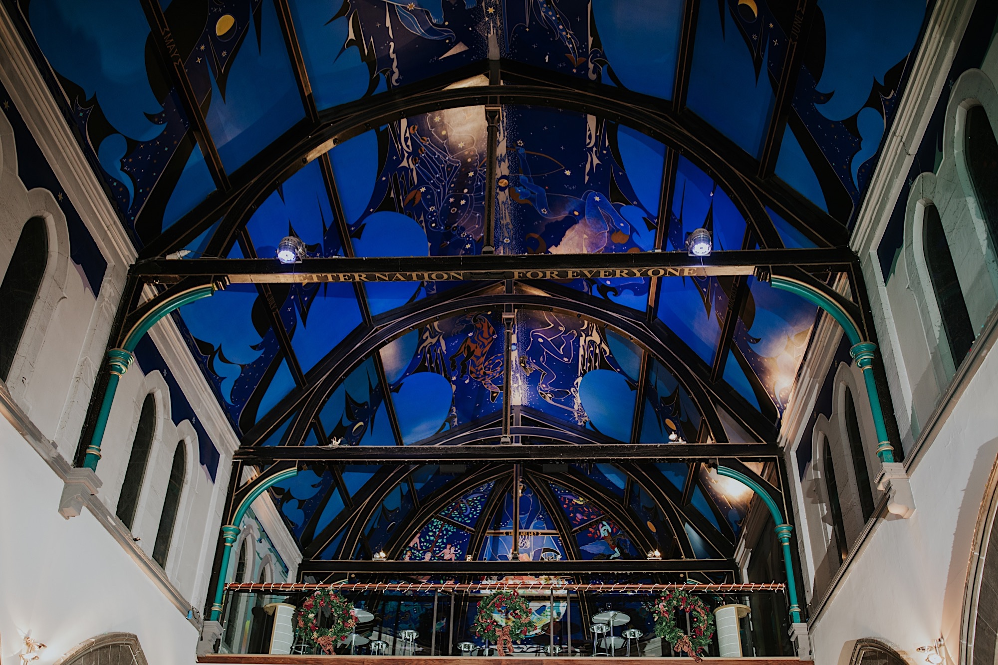 ceiling at oran mor glasgow
