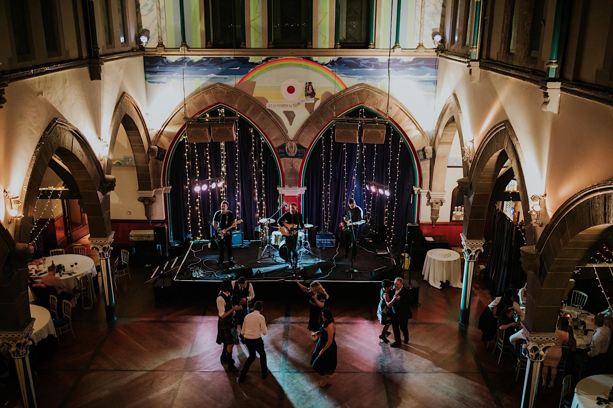 guests fill dance floor oran more glasgow wedding