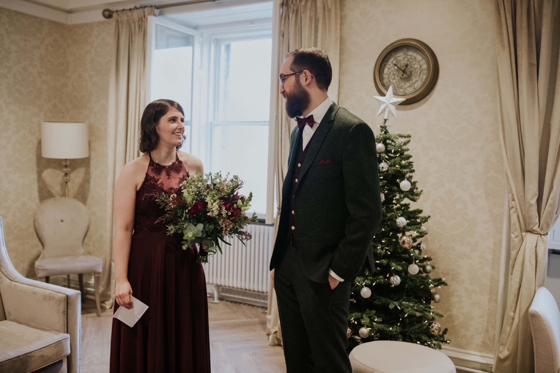 edinburgh christmas winter elopement