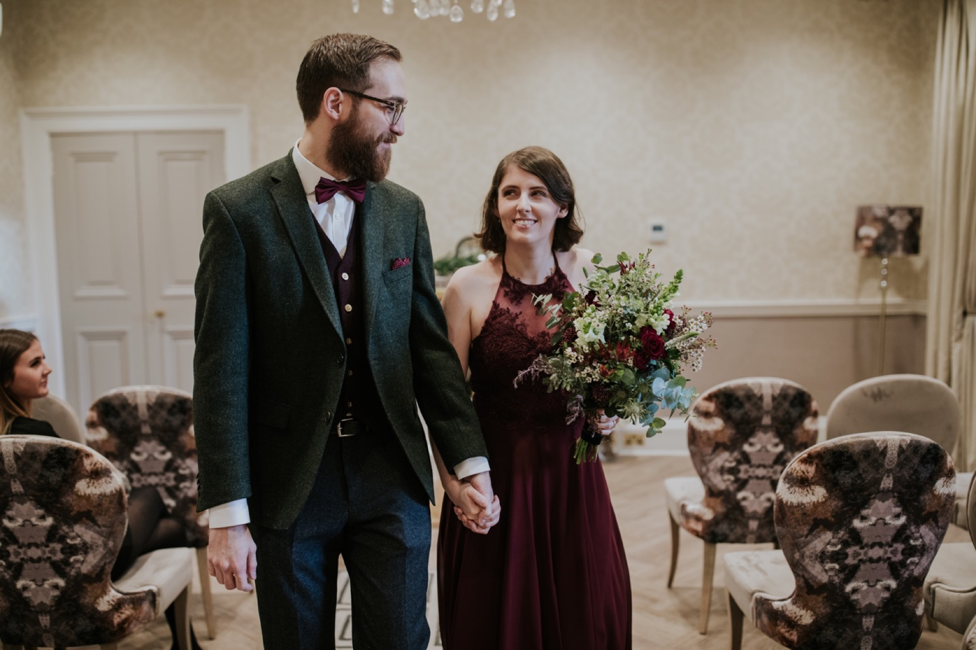 edinburgh city chamberas elopement wedding ceremony