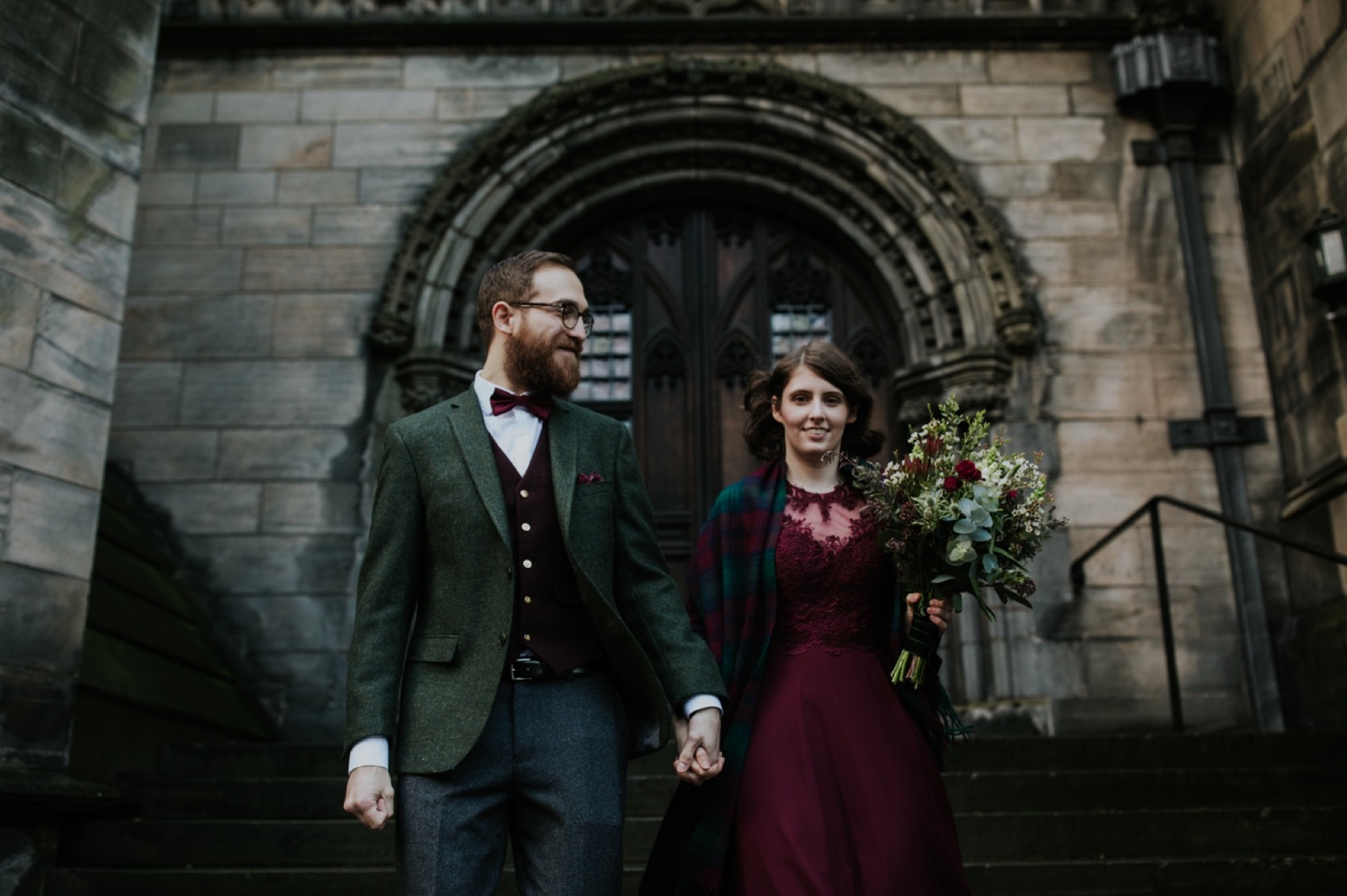 harry potter inspired edinburgh elopement