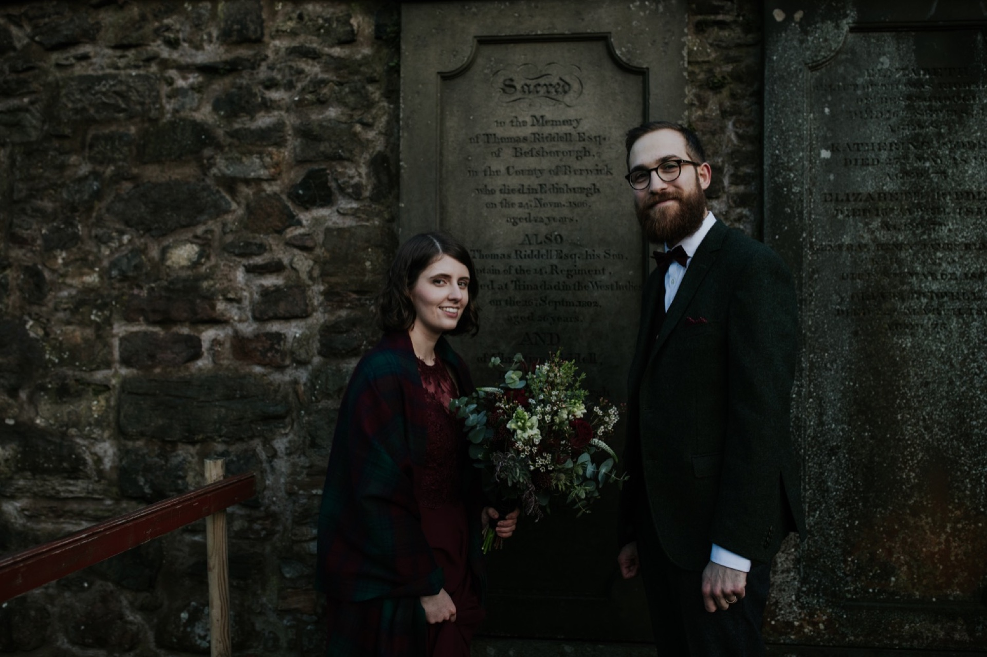 edinburgh harry potter winter wedding